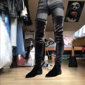 9ed49cd645d Stuart Weitzman Shoes - Stuart Weitzman Velvet Leggy Lady Boots